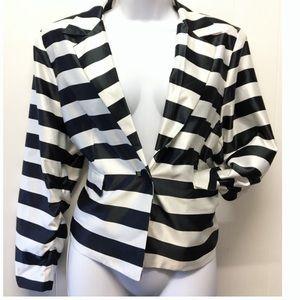 Venus Black and White Stripe Blazer